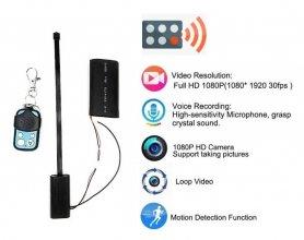 リモコン付きフルHDピンホールカメラ+ 2500mAhバッテリー+モーション検知