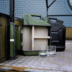 JERRYCAN - 10 literes kannás minibár + 2 whisky pohár