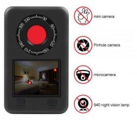 """Détecteur de caméra cachée - Chercheur Profi Spy avec LED IR 940nm avec écran LCD 2,2 """""""