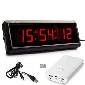 LED countdown clock for sports such as fitness, swimming, athletics - 29cm wide