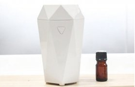 Air humidifier + portable air freshener with aromatherapy