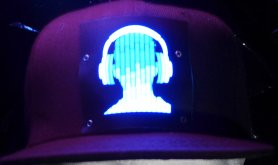 LED付きパーティーキャップ - DJヘッドフォン