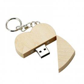 USB флеш-накопичувач у формі дерев'яного серця