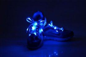 Flashing LED laces - blue