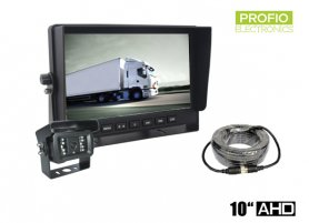 "AHD parking set with 10"" car monitor + 1x camera with 18 IR LEDs"