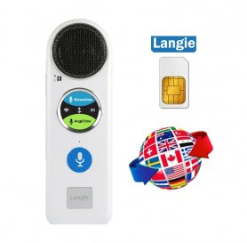 LANGIE S2 - traducteur vocal avec dictonary électronique (traduire 53 langues) + support de la carte SIM 3G