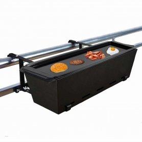 Erkélyrács- kisméretű bbq függő grill az erkélyhez- hordozható edényként