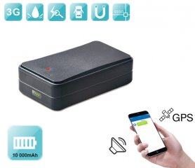 GPS tracking device for car - waterproof with magnet + extra large battery 10000 mAh + voice monitoring