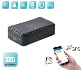 車用GPSトラッキングデバイス - マグネット付き防水+特大バッテリー10000 mAh +音声モニタリング
