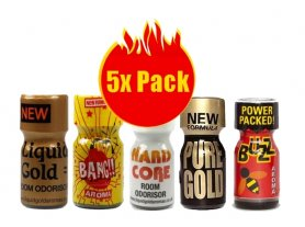 Poppers 5x pack - mix