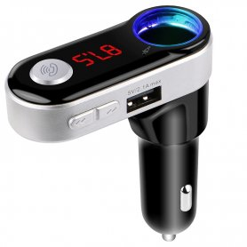 Multifunction FM transmitter with Bluetooth handsfree + 2x USB charger + 1x Micro SD card slot and MP3/WMA decoder