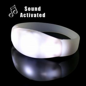 LED bracelets flashing according to the music - white