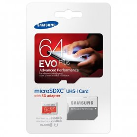 Samsung micro SDXC 64 GB EVO Plus + SD Adapter