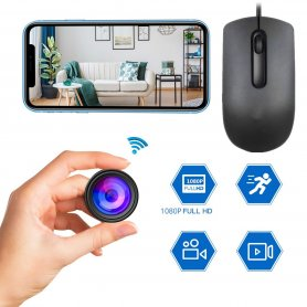 USB myš s kamerou FULL HD + WiFi/P2P+1000mAh batériou a detekciou pohybu