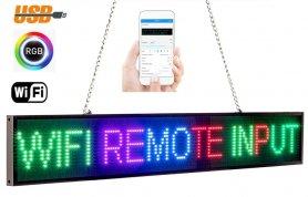 Placă LED publicitară RGB color cu WiFi - panou 82 cm x 9,6 cm