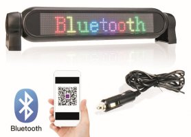 スマートフォン経由の車のLEDスクリーンRGBカラープログラマブルパネル-42 cm x 8,5 cm