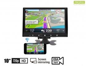 """10 """"išmaniųjų telefonų veidrodinis"""" WiFi """"monitorius + VGA + HDMI ir AV įvestis 2 kameroms"""