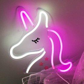 Neonový svetelný LED panel na stenu - JEDNOROŽEC