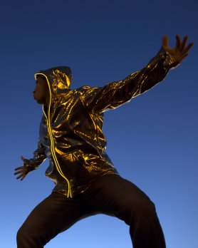 Electro hoodie LED - Gold