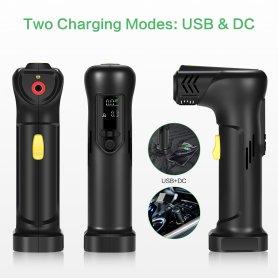 Pompă inteligentă USB universal - mașină, bicicletă, gonflabilă + lumină LED + Powerbank