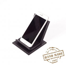 Mobile stand - luxury smartphone leather stand black colour