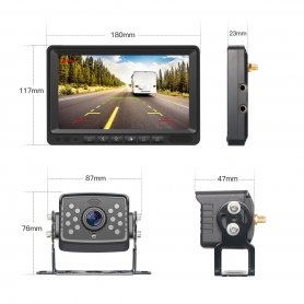 Wireless reversing camera HD with HD monitor - (support 128GB SDXC) + protection (IP69)