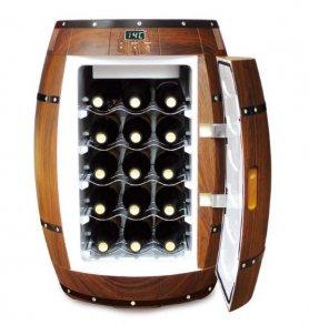 Vinski hladnjak u obliku bačve - 40 litara / 15 bočica