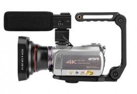 4K videokamera Ordro AZ50 s nočným videním + WiFi + teleobjektív + makro objektív + LED svetlo + kufrík (FULL SET)