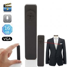 Button camera spy with 16GB memory - VGA Resolution