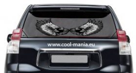 Led car stickers Wings - 50cm x 25cm