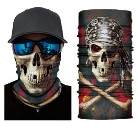 Cagoule Skeleton (couvre-chef multifonctionnel) - PIRATE SKULL