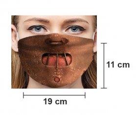 HANNIBAL LECTER - Maschera protettiva per il viso 100% poliestere