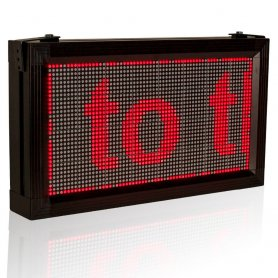 LED Info Panel 52 cm x 28 cm - red