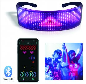 Gafas de sol LED RAVE pantalla LED FULL programable a través de Smartphone (Bluetooth)