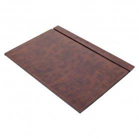 Akcesoria biurowe - ZESTAW 8szt - Luksusowa brązowa skóra (ręcznie robiona)