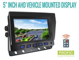 """Hybridní 5 """"monitor do auta: 2-CH, AHD / CVBS pro 2 kamery + dálkové ovládání"""