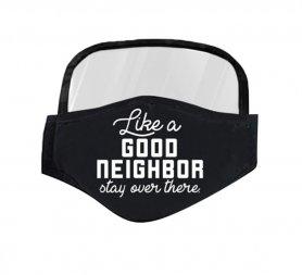 A szem védőpajzsával ellátott maszk - jó szomszéd