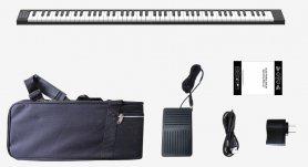 Összecsukható billentyűzet (zongora) hordozható összecsukható 130 cm + 88 billentyű + BT + Li-ion + sztereó hangszórók