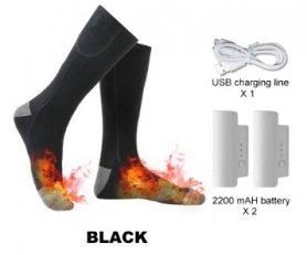 Термальні шкарпетки з підігрівом електричні - 3 рівні температури з батареєю 2x2200mAh