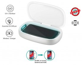 Дезинфекционная коробка XGerm ULTRA - стерилизация аромата за 8 минут с 2x 1 Вт УФ + беспроводная зарядка 10 Вт