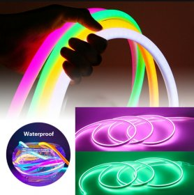 LED strips silicone flexible 5M - waterproof IP68 protection - Pink color
