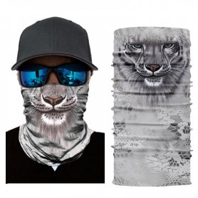 Multifunctional face or head scarf with animal motif - GEPARD