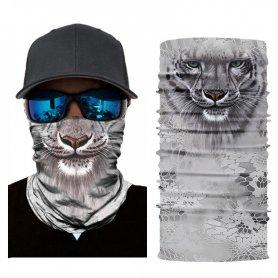 Foulard multifonctionnel pour le visage ou la tête avec motif animalier - GEPARD