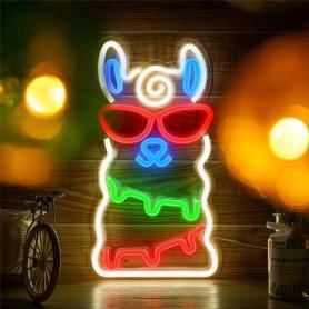 Dekoračný farebný neon LED svietiaci (banner) - LAMA