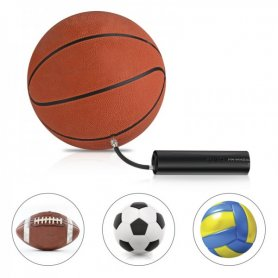 Bomba eléctrica inteligente para bolas con linterna LED + 2 agujas inflables