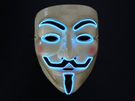 Neon masks Anonymous - Blue