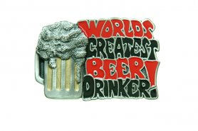 BEER DRINKER - belt buckle