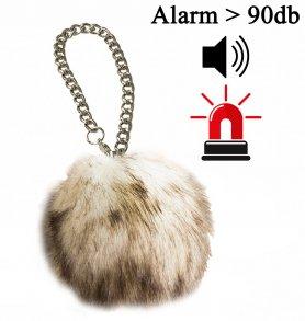 Személyes riasztó - hordozható zsebes mini ébresztő, plüss plüssként, akár 100db hangerővel