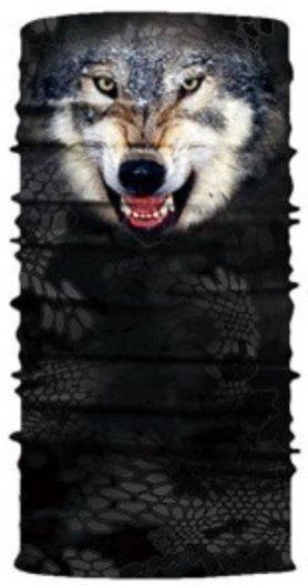 Bandana WOLF - Pañuelos protectores multifuncionales para rostro y cabeza