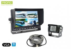 "VGA reversing set 7"" LCD monitor + 1x 150° waterproof camera"